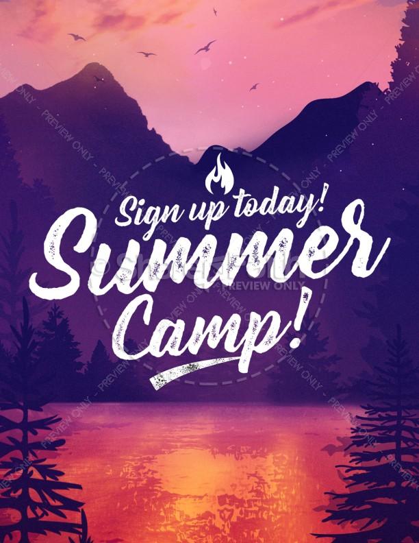 Church Summer Camp Flyer Template Flyer Templates