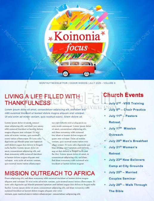 Church Vacation Bible School Newsletter Template Newsletter Templates