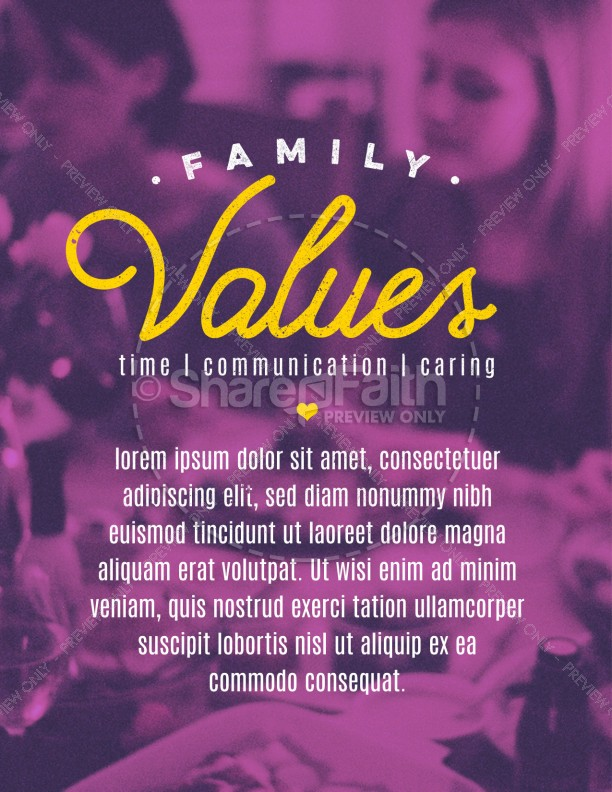 Family Values Church Flyer Template Template Flyer Templates