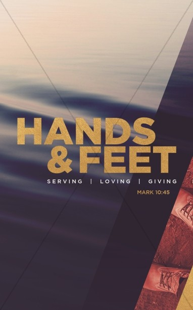 Hands And Feet Church Bulletin Template Sermon Bulletin Covers