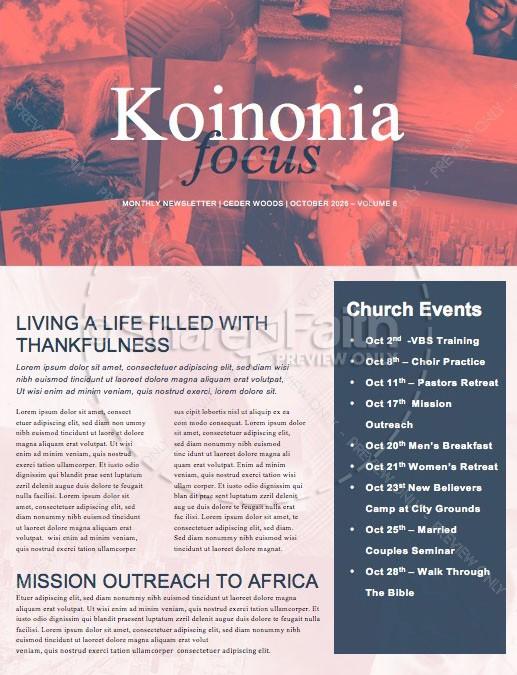 Balance In Life Church Newsletter Template Template Newsletter