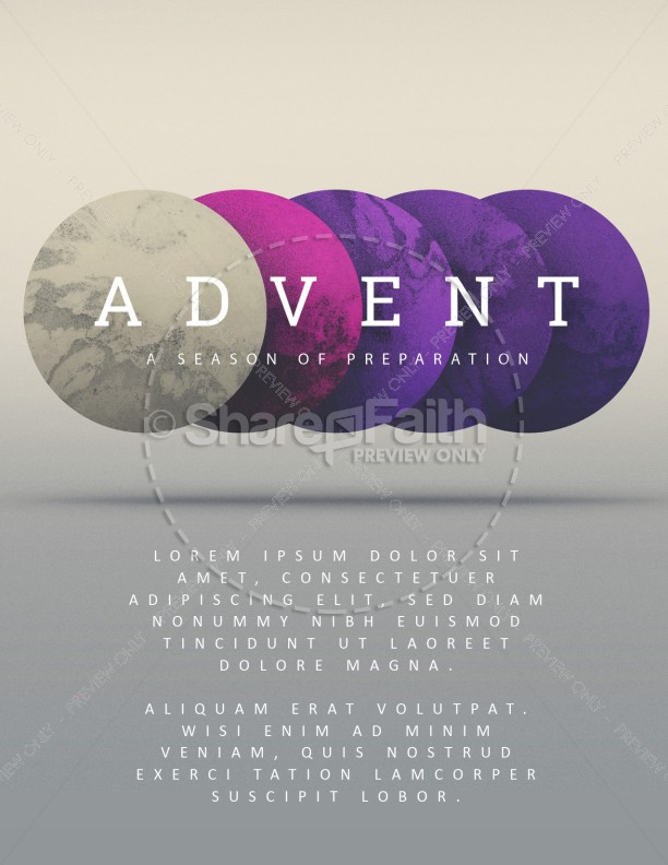 Advent Season of Preparation Flyer Template Template Flyer Templates
