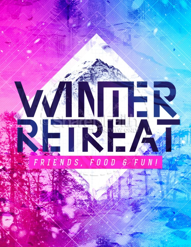 Winter Retreat Church Flyer Template Template Flyer Templates