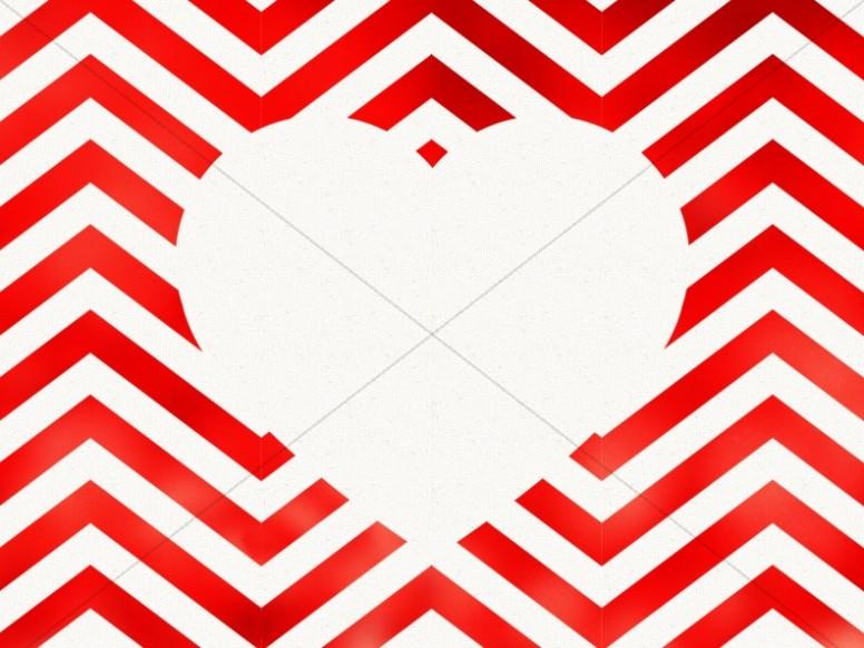 Valentine\u0027s Day Chevron Heart Cutout Background Worship Backgrounds