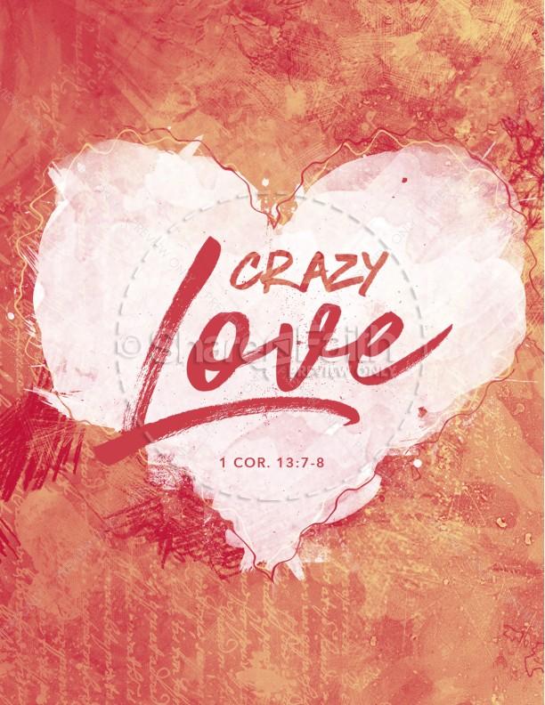 Crazy Love Church Flyer Template Template Flyer Templates - love templates