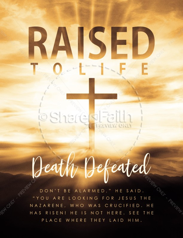 Raised To Life Easter Flyer Template Template Flyer Templates