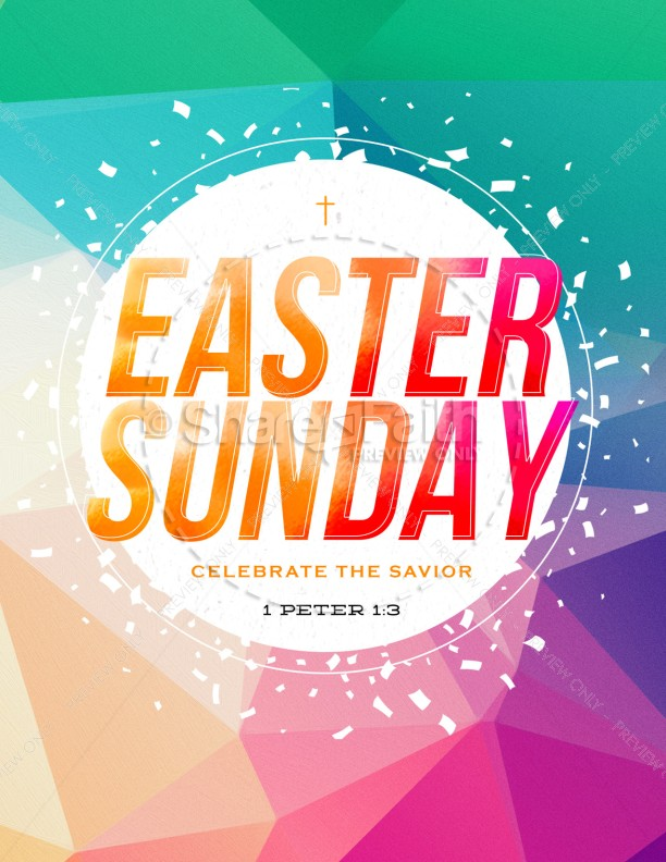 Easter Sunday Service Flyer Template Template Flyer Templates - easter flyer template