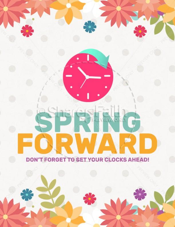 Daylight Saving Time Spring Forward Flyer Template Flyer Templates