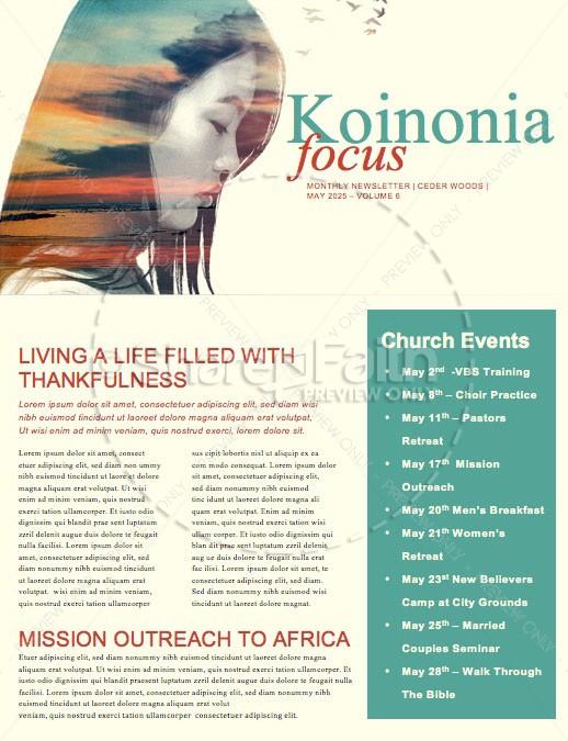 A Mother\u0027s Prayers Church Newsletter Template Newsletter Templates - church newsletter