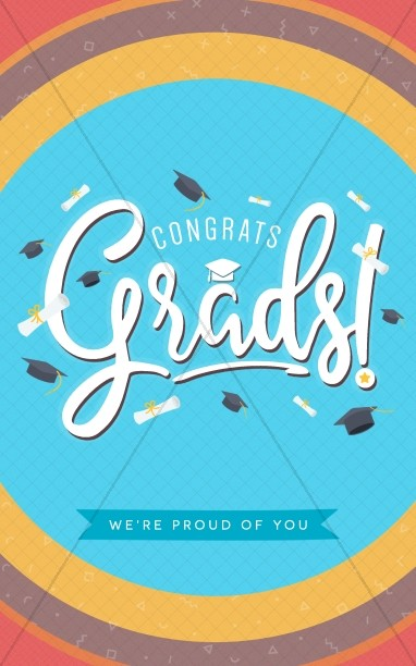 Congrats Grads Graduation Bulletin Cover Template Secular Holiday - graduation program covers