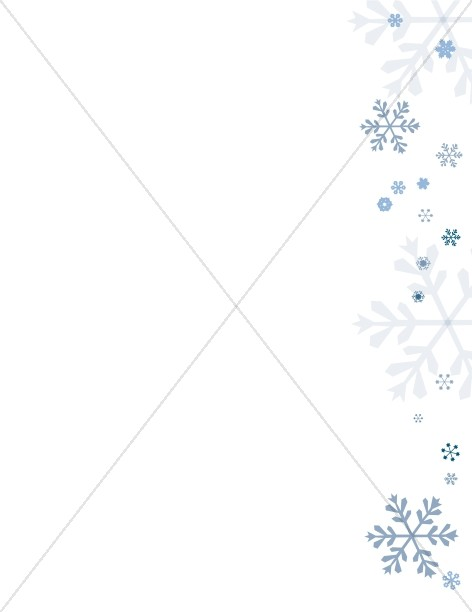Simple Snowflake Page Footer Snowflake Images - snowflake borders for word