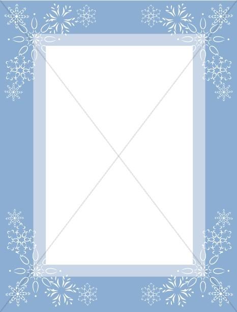 Red Corner Snowflakes Winter Borders - snowflake borders for word