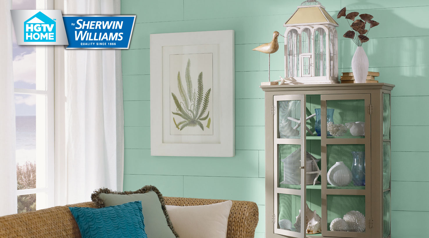 Cool Blue Paint Coastal Cool Paint Color Collection Hgtv Home By Sherwin Williams