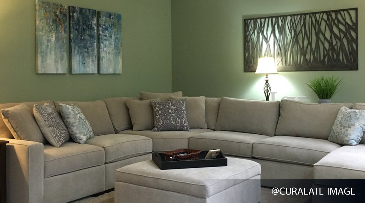 Grey Sofa Teal Walls Living Room Paint Color Ideas | Inspiration Gallery