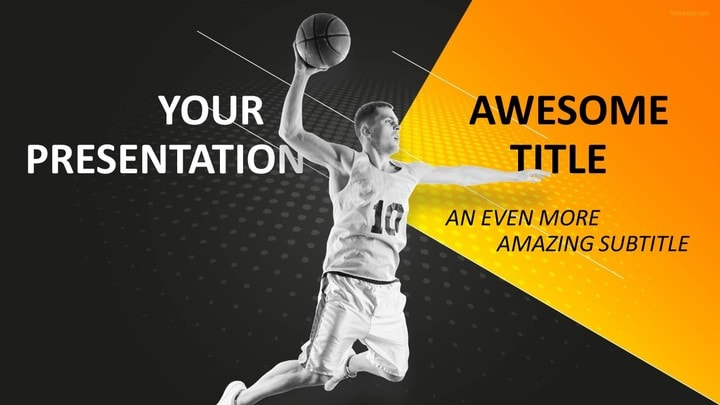 30 Sports - Mega PowerPoint Template - basketball powerpoint template