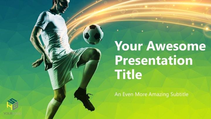 Soccer - Modern PowerPoint Template (Green version)