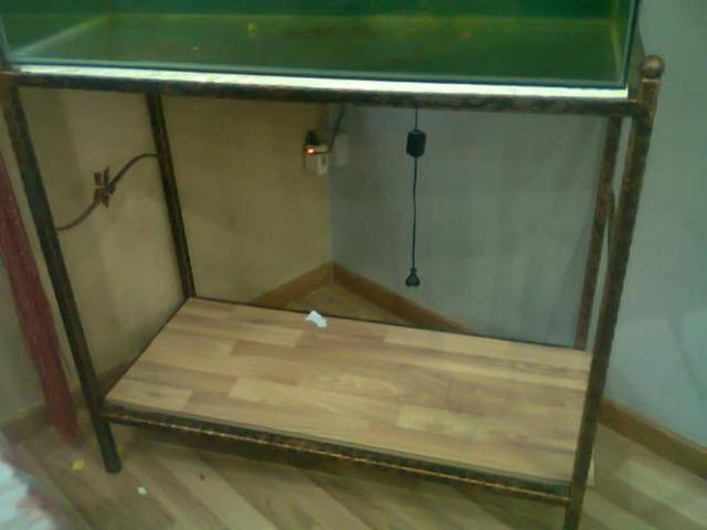 3ft Wrought Iron Fish tank Stand, selling at $60 for Sale in Hougang
