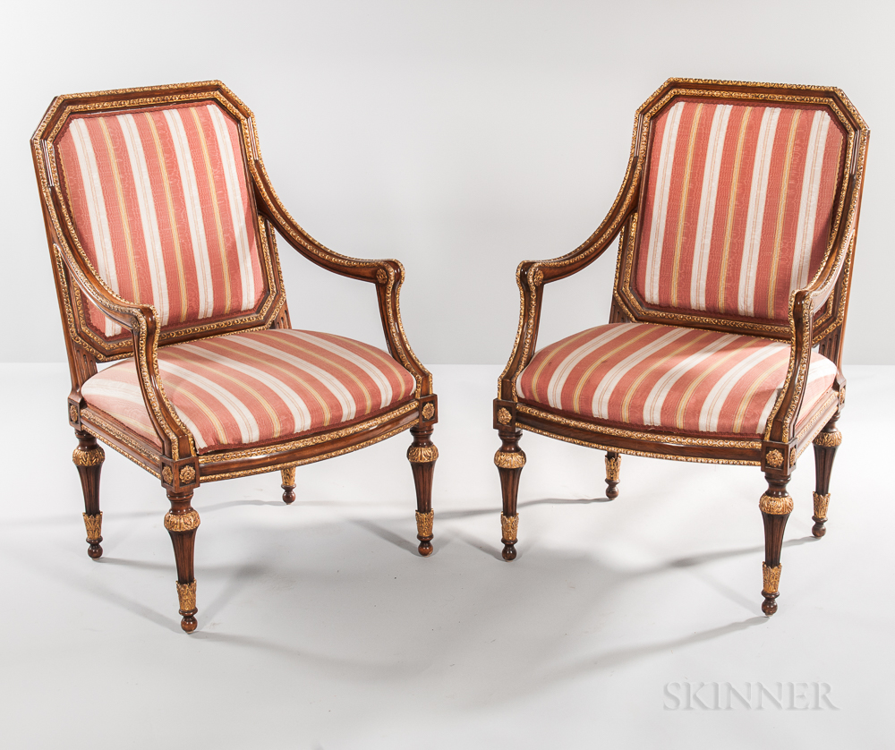 Pair Of Louis Xvi Style Fauteuil Sale Number 3195b Lot Number 453 Skinner Auctioneers