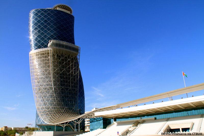 Emirates Wallpaper Hd Capital Gate Tower The Skyscraper Center