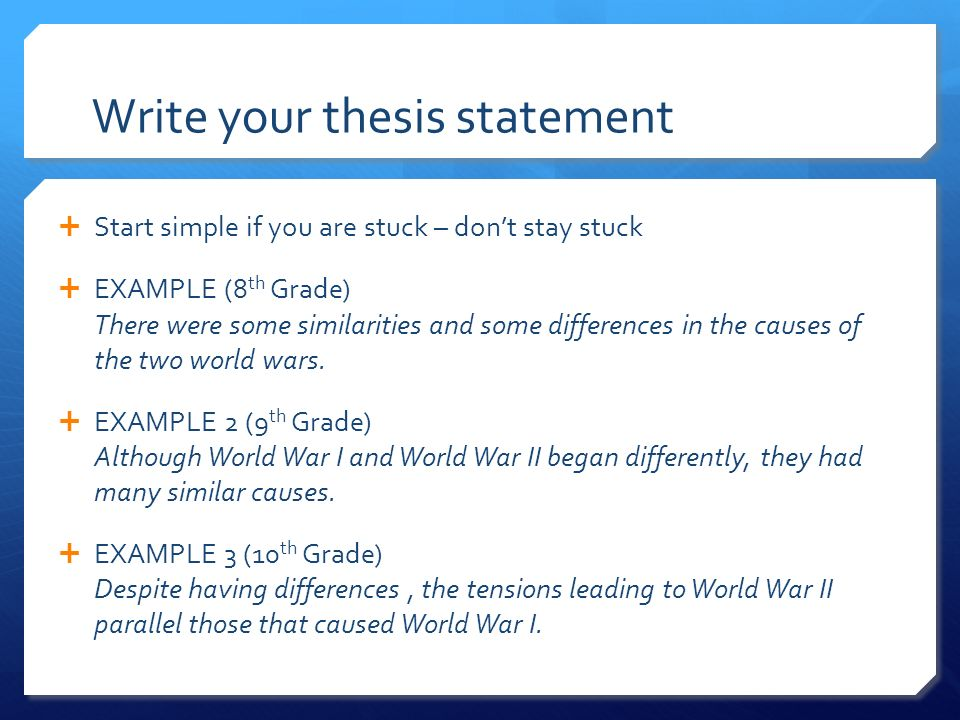 define thesis statement in writing