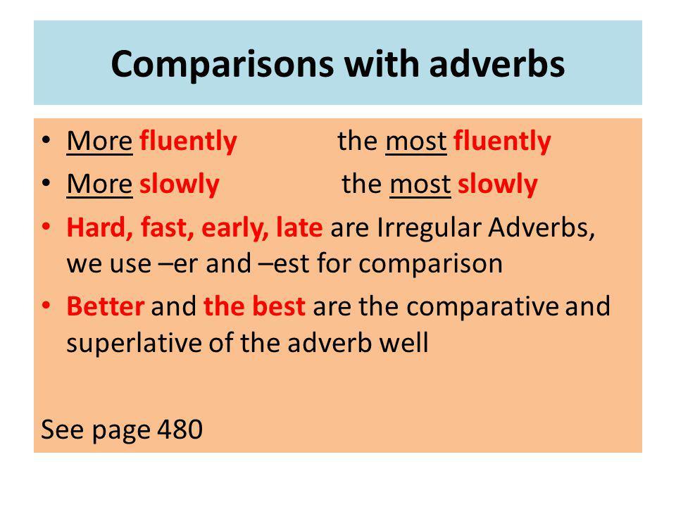 Chapter 16 Making Comparisons Definition Comparisons Words