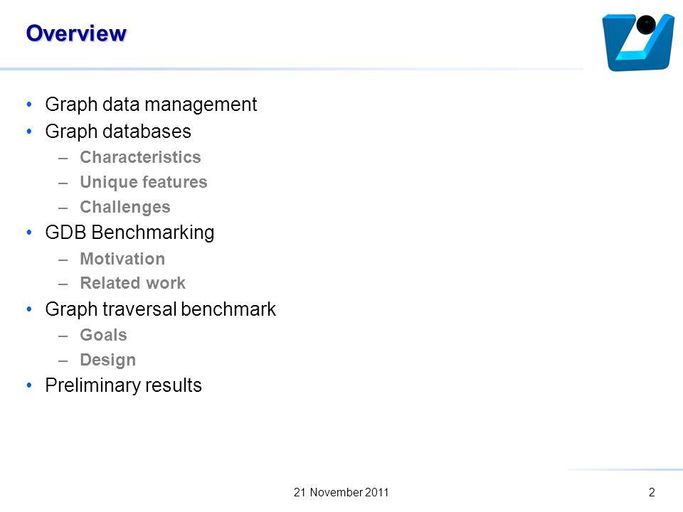 Benchmarking traversal operations over graph databases Marek Ciglan