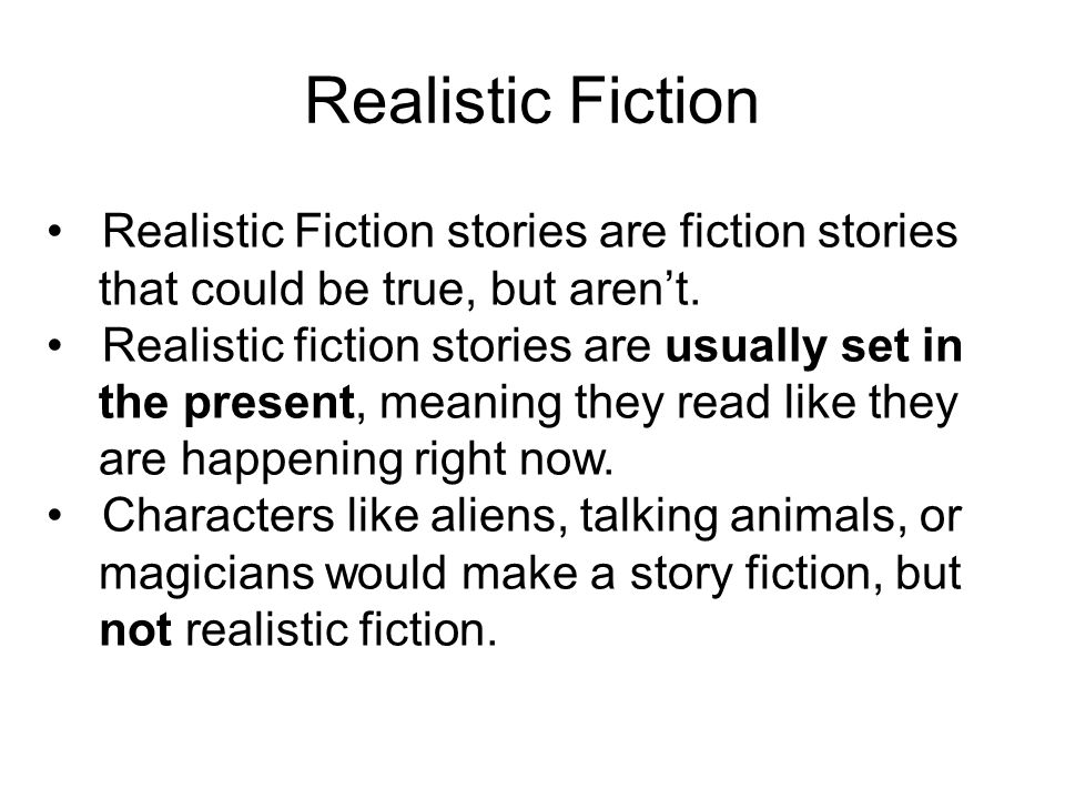 Realistic Fiction September Genre of the Month Realistic Fiction