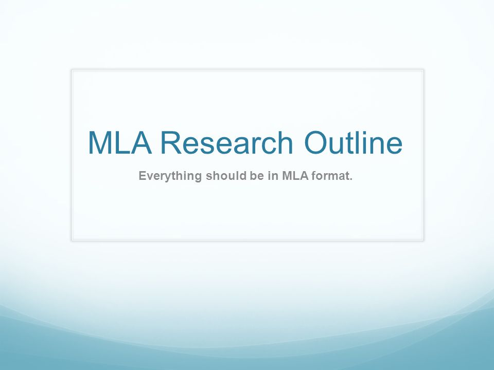 how to do a research outline This goes over how to do an mla style outline for the english honors 9 research paper the example in the video is incomplete, but still shows where informat.