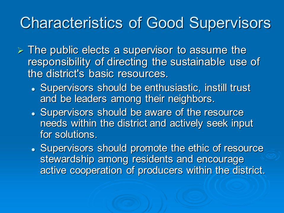 Conservation District Supervisor Accreditation Module 6