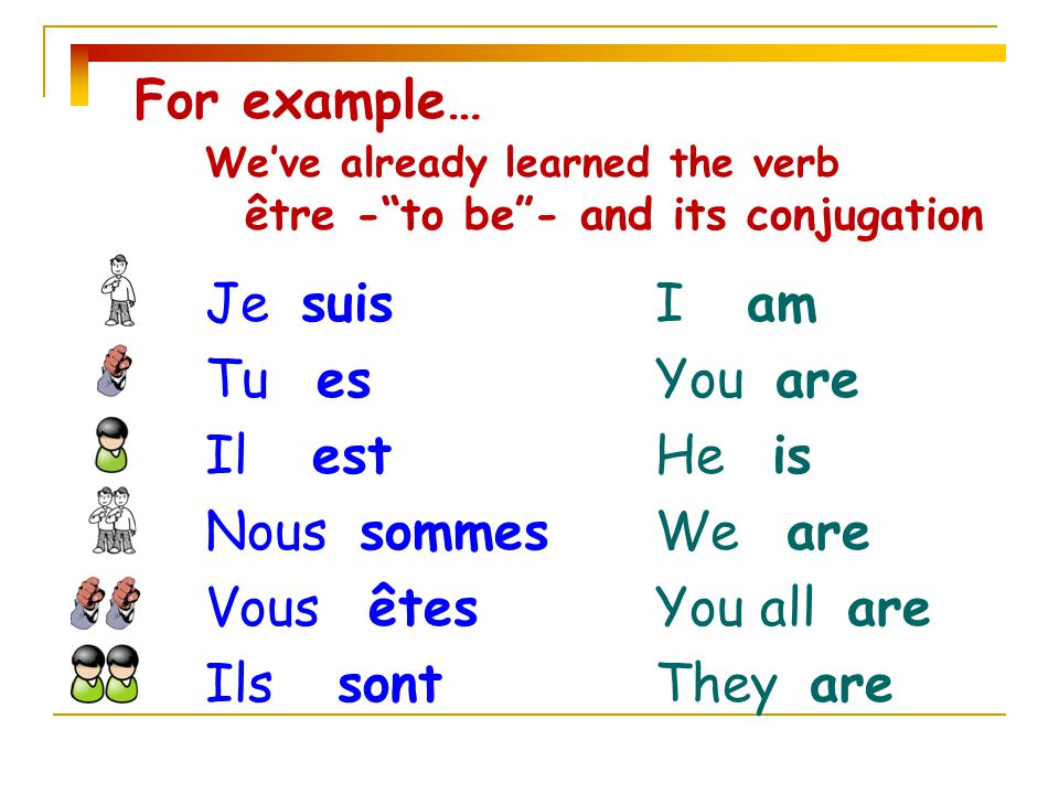 INTRO TO CONJUGATION \u201cHow to make your verb match your subject