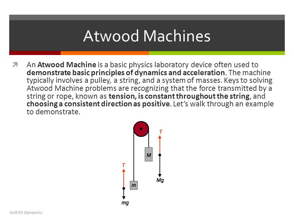 Dynamics \u2013 Atwood Machines / SBA urses/honors/dynamics/Atwoodhtml