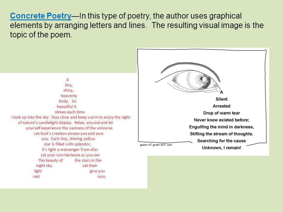 Graphical Elements In Poetry - Lessons - Tes Teach