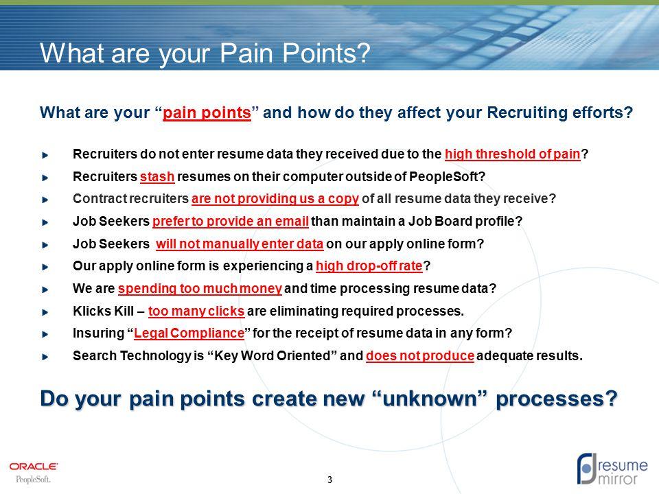 Resume Processing Technology PeopleSoft eRecruit  Talent