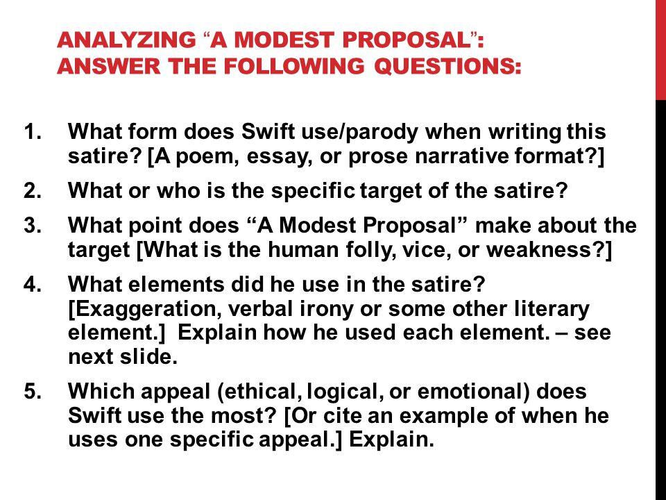 Example of satire essay