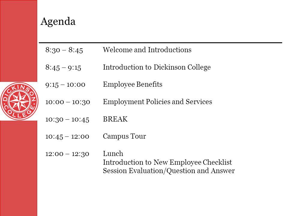 Navigating Dickinson HR Services New Employee Orientation Program at