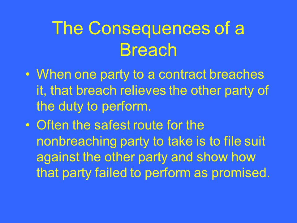Business Law Chapter 11 Contract Remedies Introduction to - contract breaches remedies