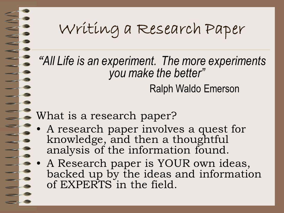 Outline of a research paper - Niek van der Sprong Niek van der Sprong - what is a research paper
