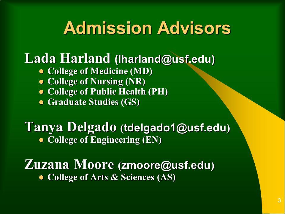 Graduate Admissions Graduate School University of South Florida ppt
