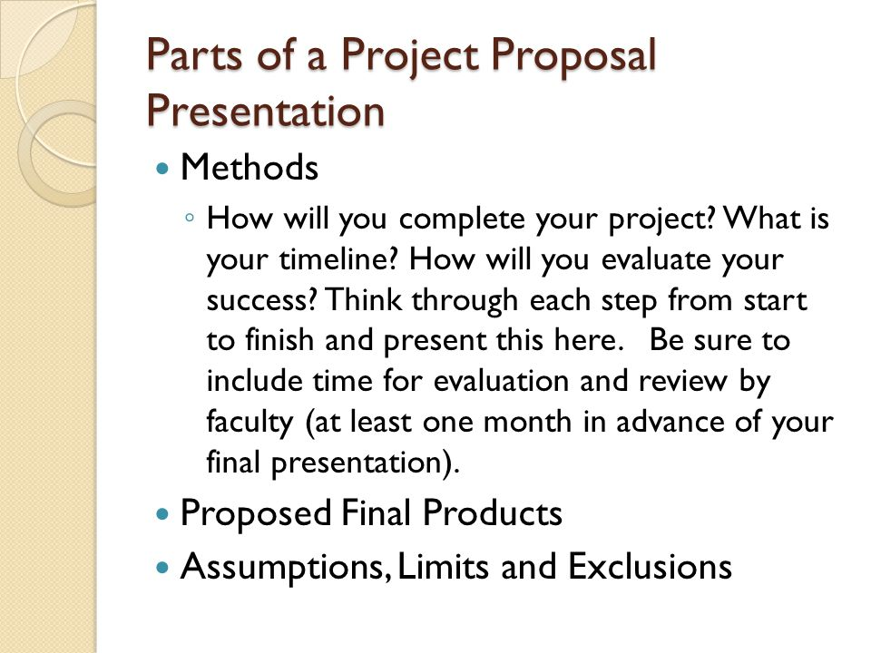 Guide to Project Proposals Presentation overview Introduction and - project proposals
