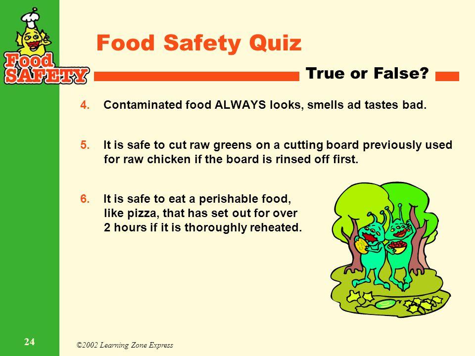 food safety quiz questions - Onwebioinnovate - food safety quiz