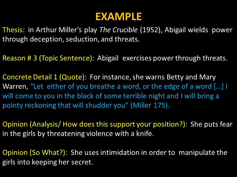 essays on the crucible by arthur miller argumentative essay semester