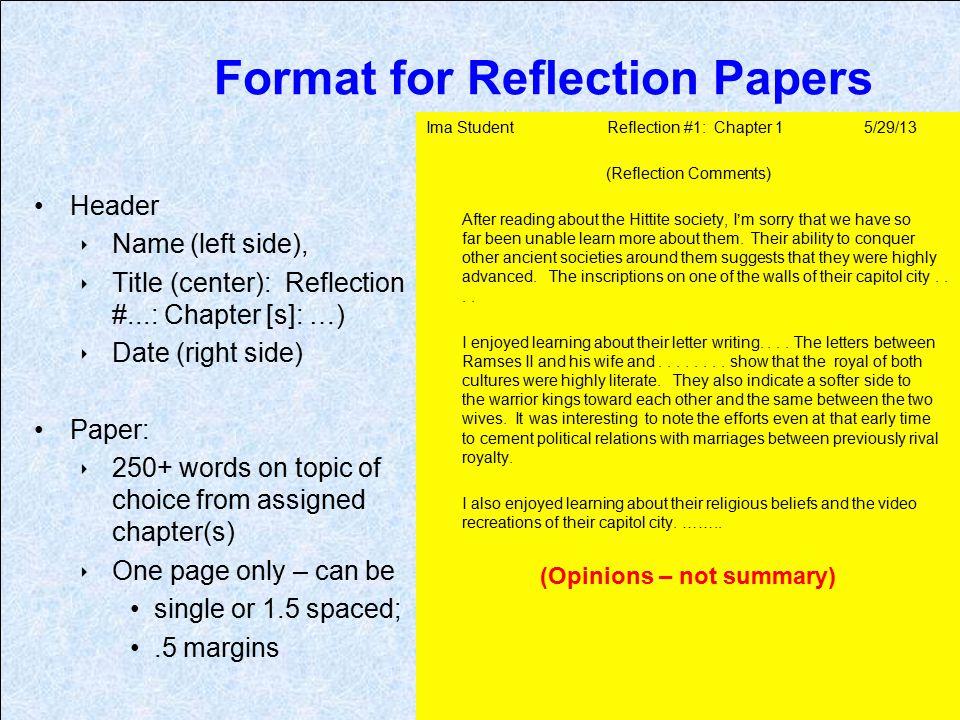 Sample Reflective Essay Apa Style Mistyhamel