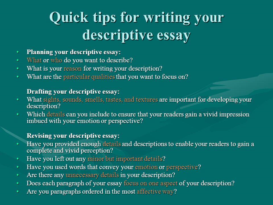 How to Write a Descriptive Essay 94AG010 Balto Source ive-essay