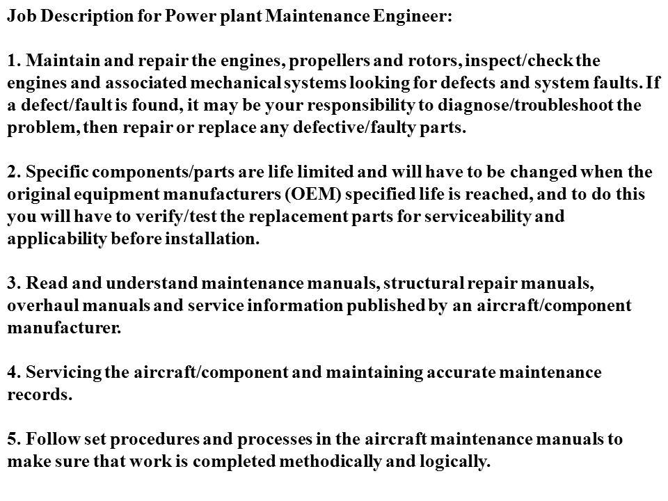 COSCAP-SA Maintenance Facilities  Job Descriptions - ppt download