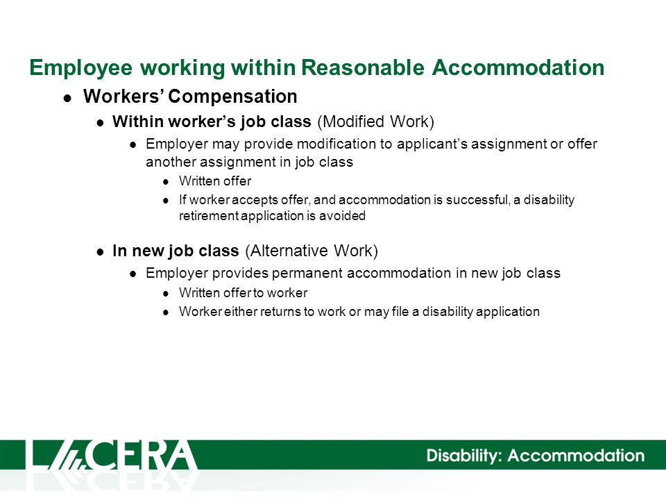 Reasonable Accommodation Workers\u0027 Compensation vs Disability - disability form