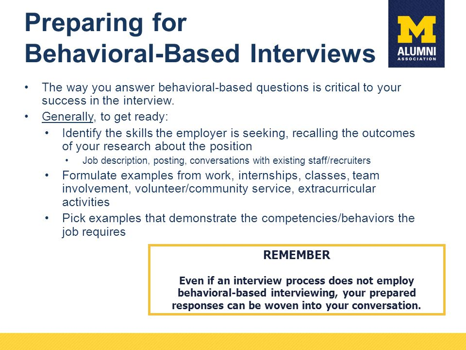 Behavioral Interviewing The Right (and Wrong) Way to Prepare For and