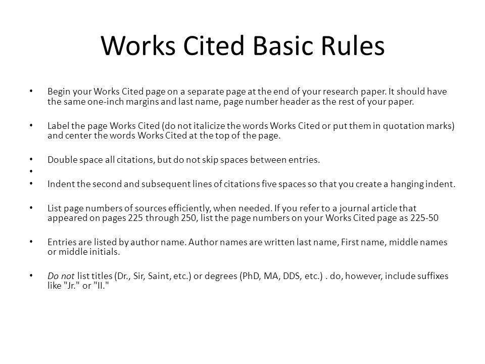 mla works cited essay purdue owl mla style guide mla format works