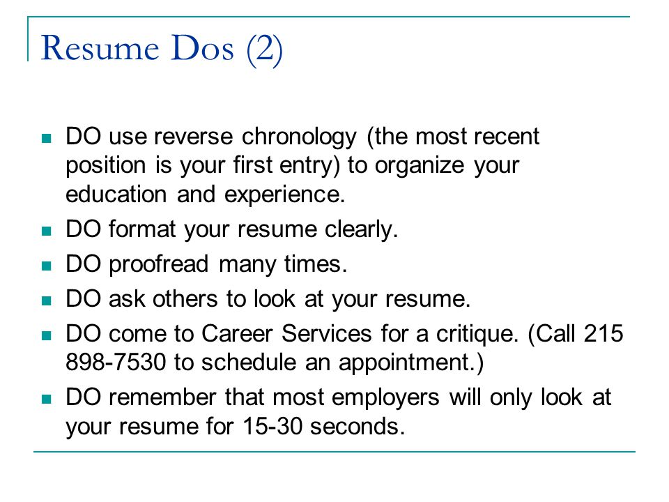 Changing Your CV to a Resume Career Services University of