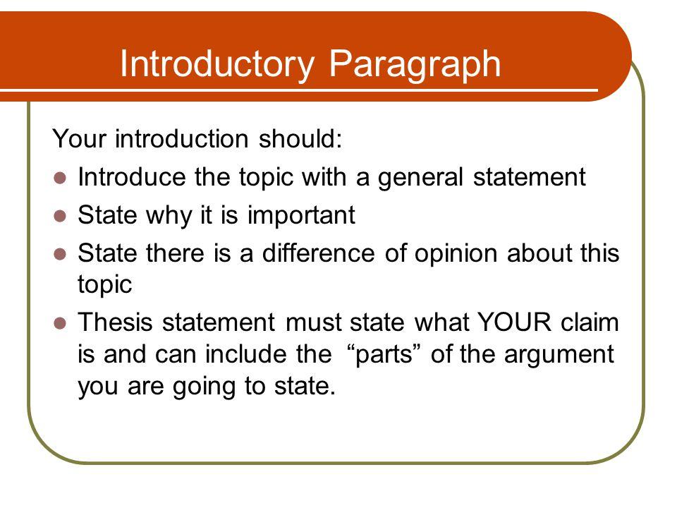 Argumentative essay introductory paragraph Custom paper Academic - essay introductory paragraph