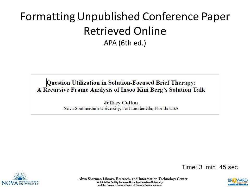 apa 6th edition online - Sendilcharlasmotivacionales